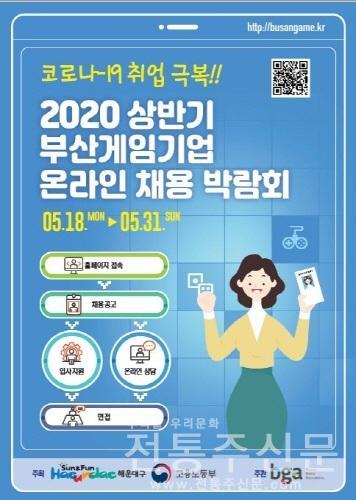 '부산 게임 기업 온라인 채용박람회' 개최.jpg
